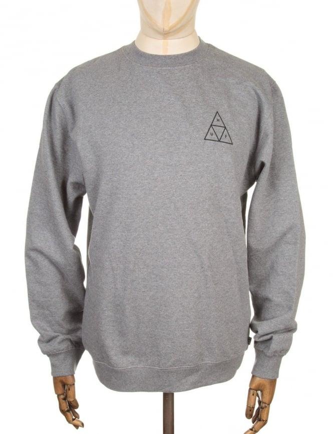 Huf Triple Triangle Sweatshirt - Heather Grey