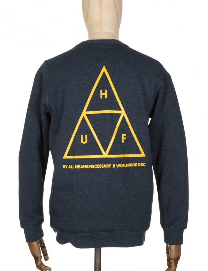 Huf Triple Triangle Sweatshirt - Navy Heather