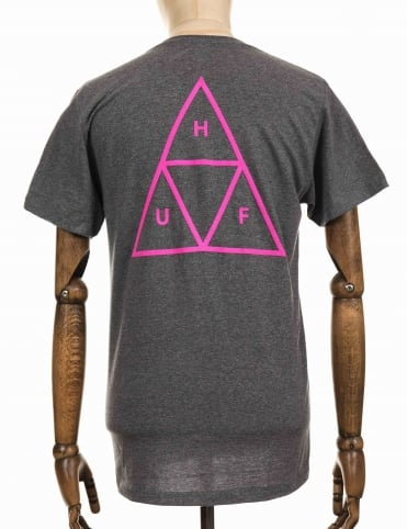 Triple Triangle Tee - Arctic Grey