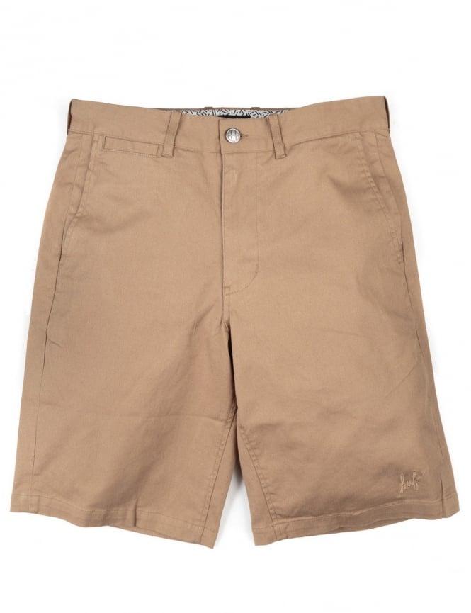 Huf Twill Walking Shorts - Khaki