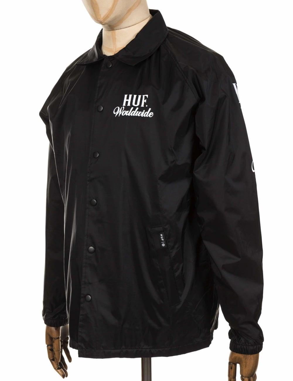 Huf Ultra Coach Jacket Black Clothing From Fat Buddha Store Uk