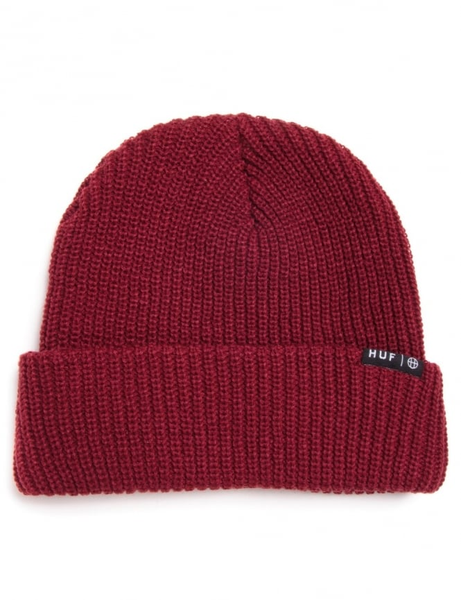 ef46c8e40fa Huf Usual Beanie - Burgundy - Accessories from Fat Buddha Store UK