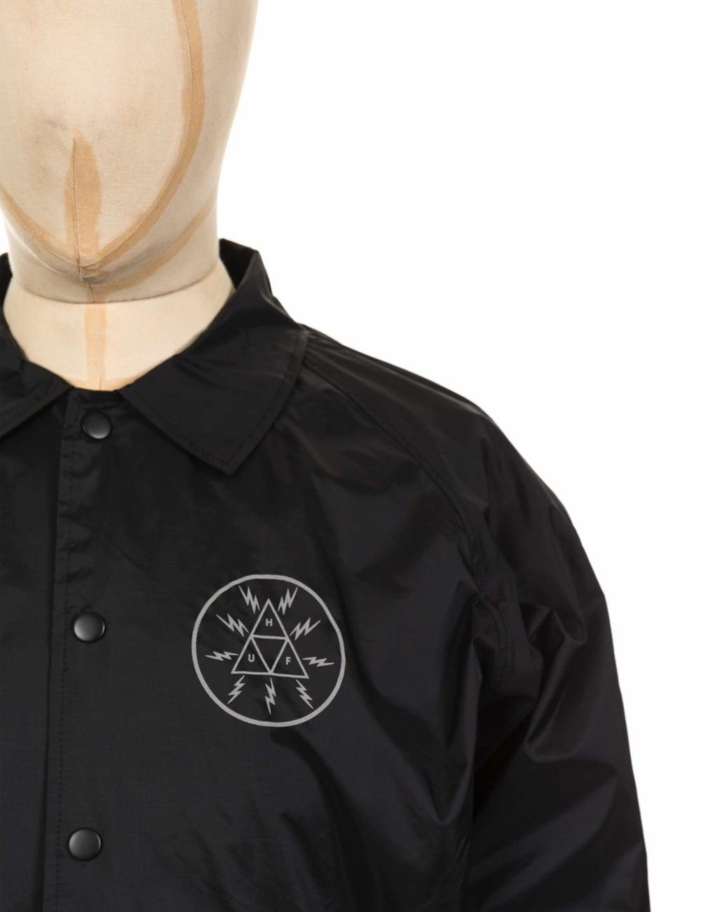 Huf Voltage Coach Jacket Black Clothing From Fat Buddha Store Uk