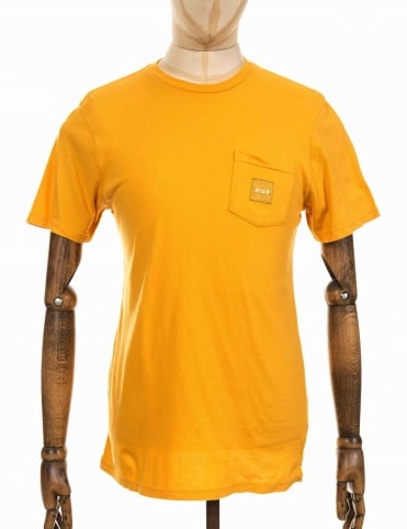 Woven Label Pocket T-shirt - Gold