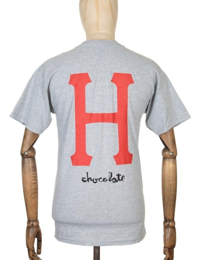 Huf x Chocolate Classic H T-shirt - Grey Heather