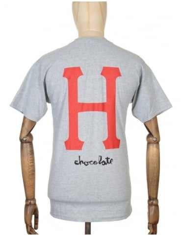 Huf x Chocolate Classic H T-shirt - Grey Heather