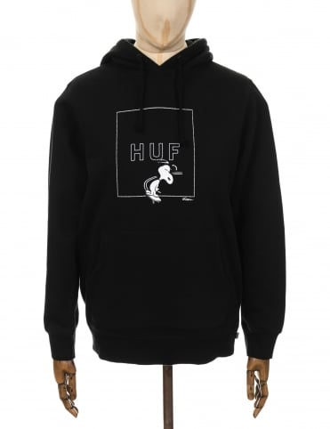 Huf x Snoopy Box Logo Hooded Sweat - Black
