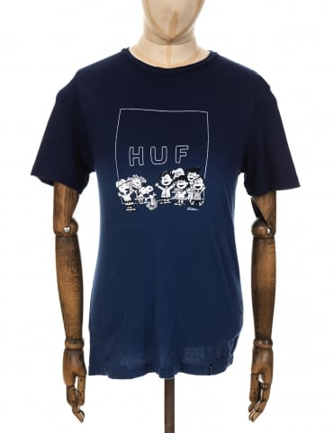 Huf x Snoopy Peanuts Gang T-shirt - Navy Wash