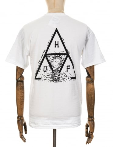 Huf x Snoopy Pigpen Triple Triangle T-shirt - White