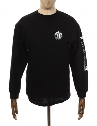 Huf x Thrasher LS TDS T-shirt - Black