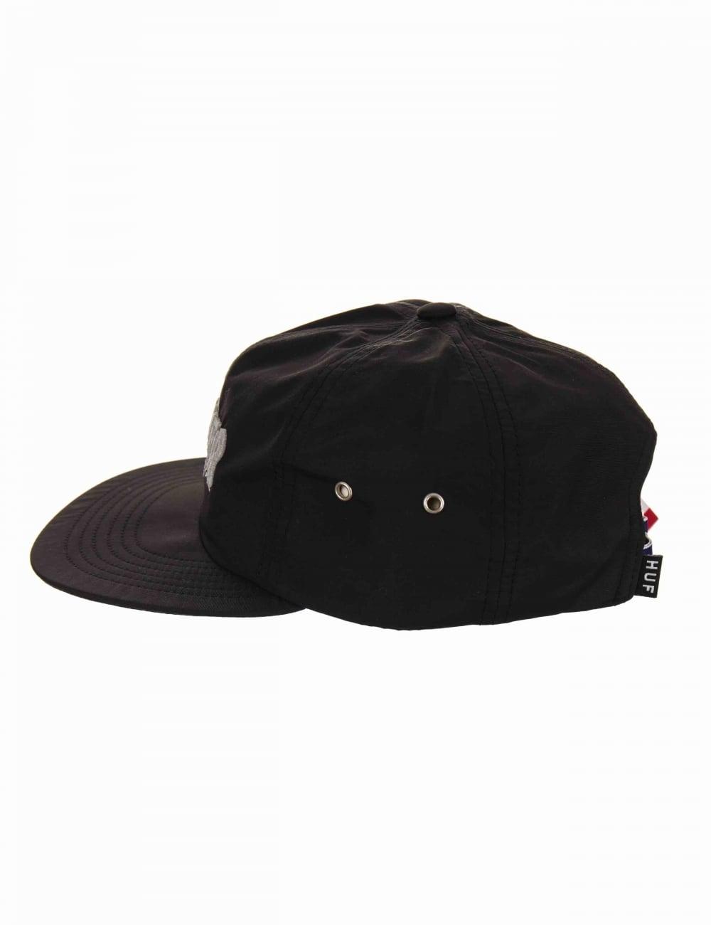 c09bac0e0bf06 Huf x Thrasher TDS 6 Panel Hat - Black - Hat Shop from Fat Buddha ...