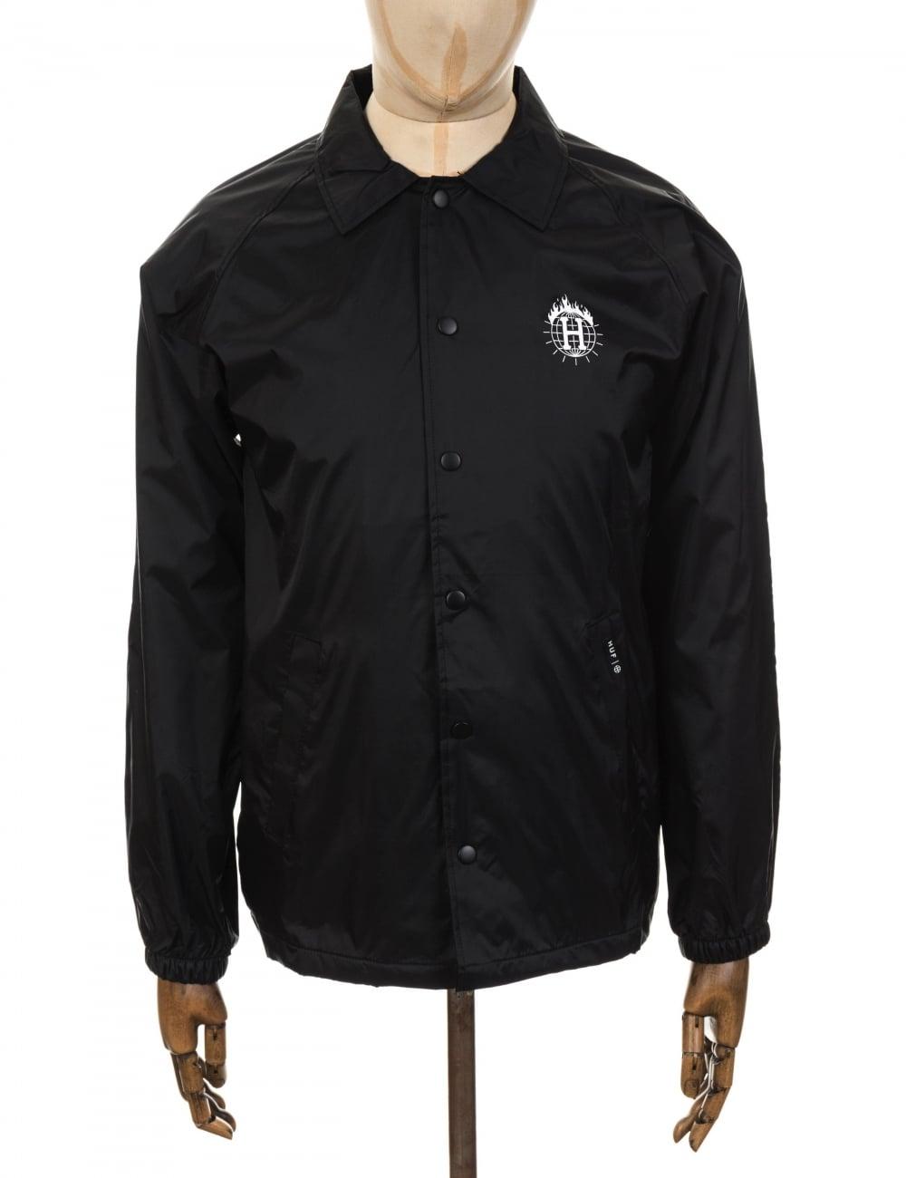 afd9c0aeef8d Huf x Thrasher TDS Coach Jacket - Black - Clothing from Fat Buddha ...