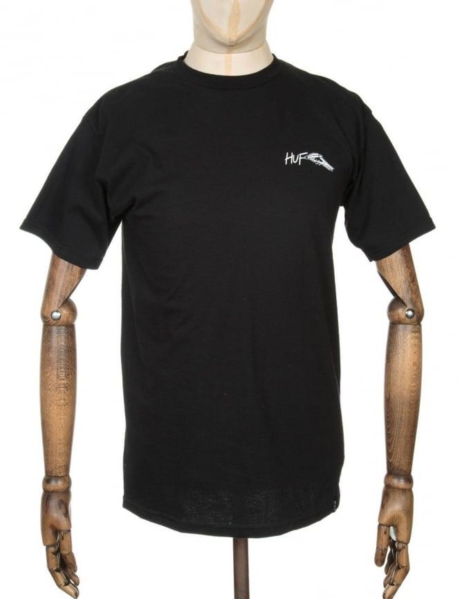 Huf x Todd Francis S/S T-shirt - Black