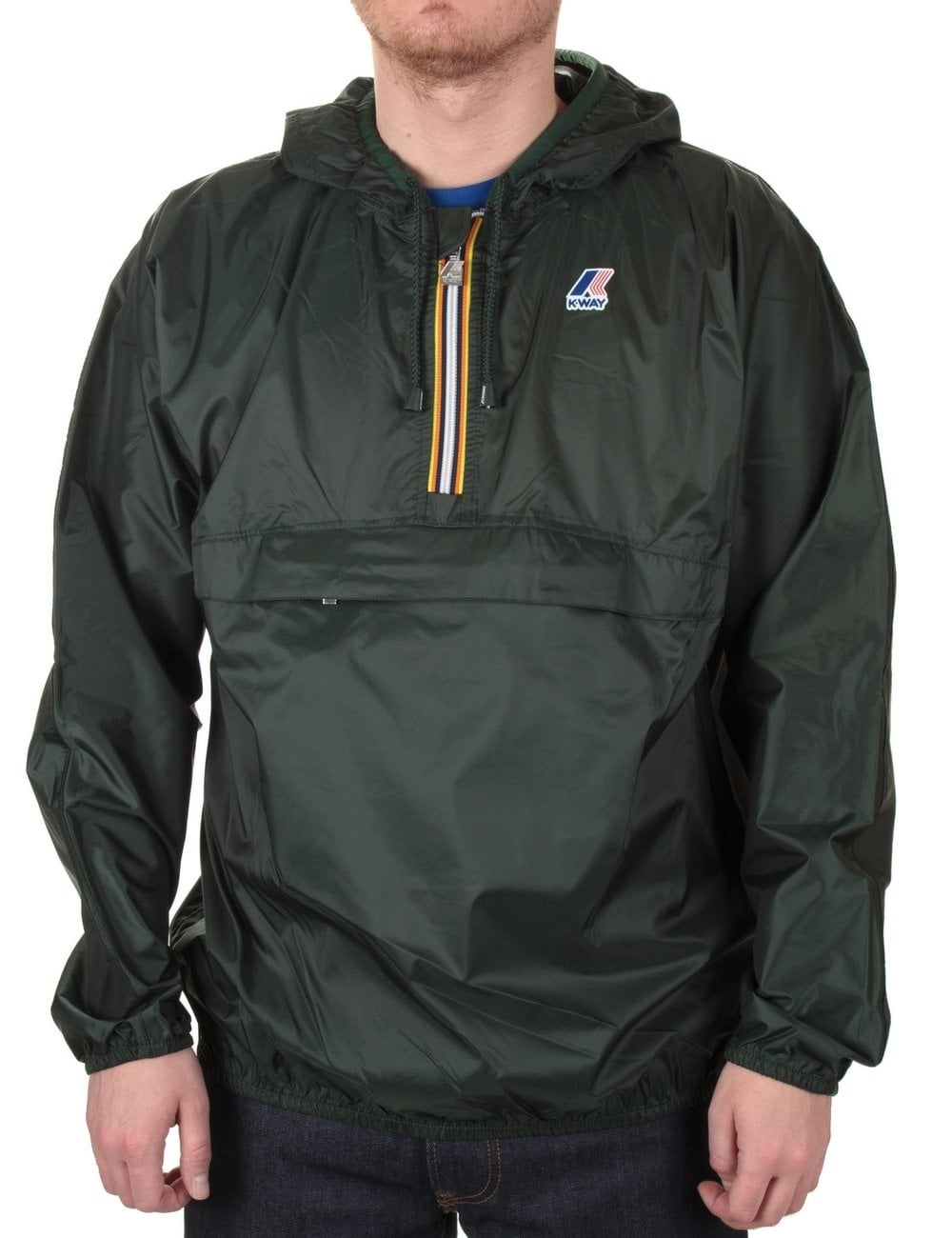 c8aaffe6b9ed K-Way Leon Half Zip Jacket - Forest - Clothing from Fat Buddha Store UK