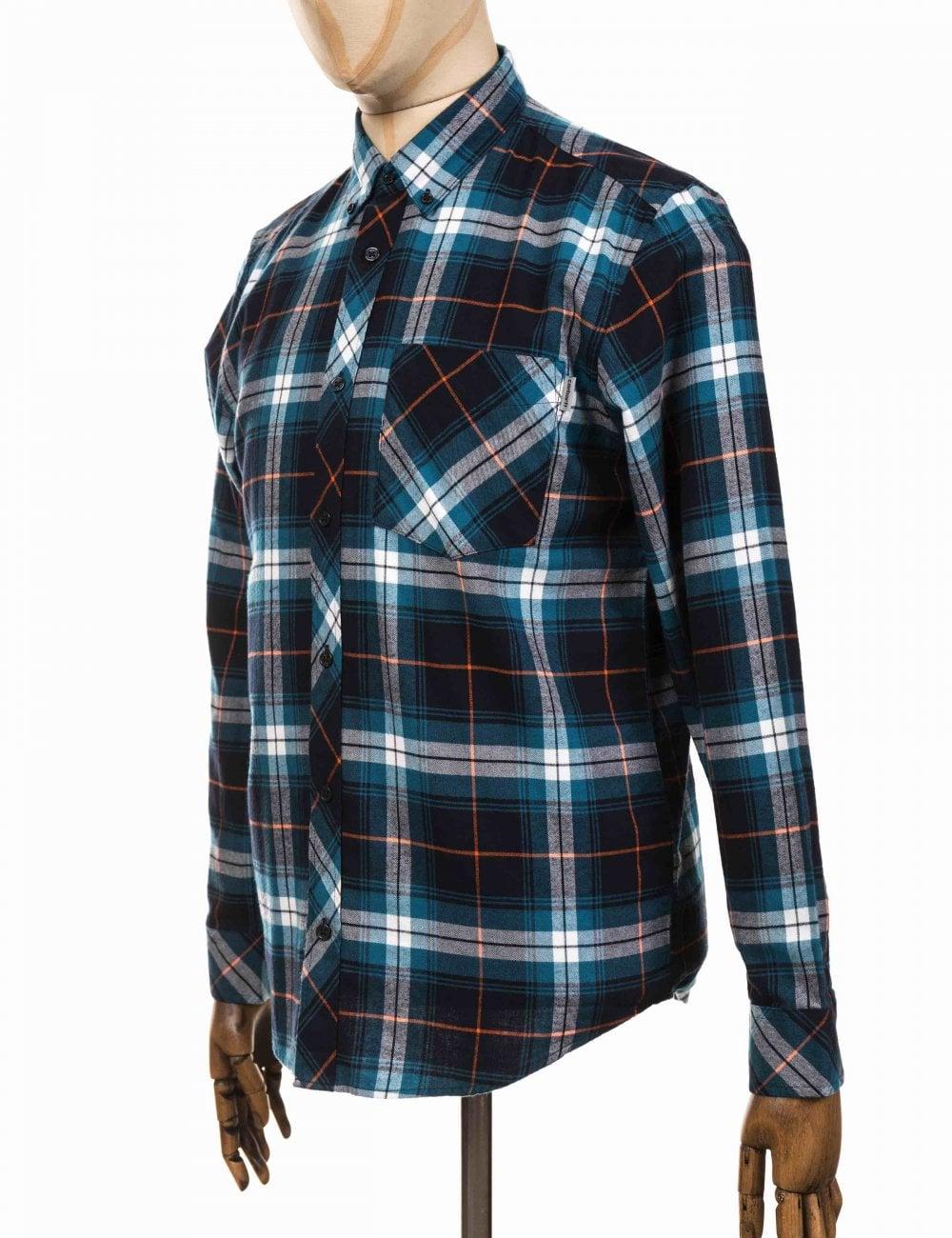Carhartt WIP L//S Phil Shirt Moody Blue