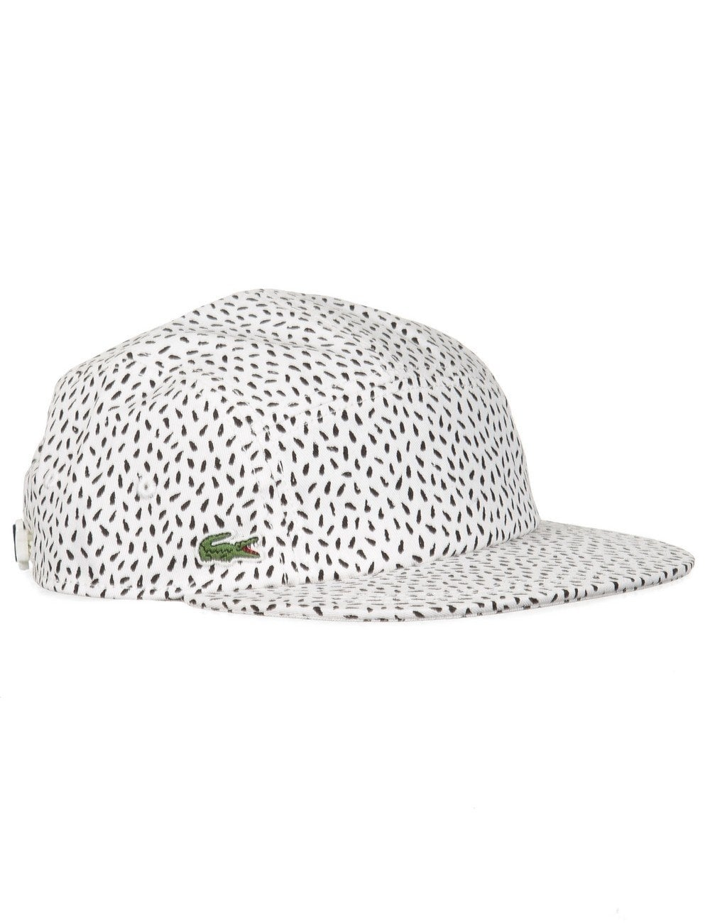 Lacoste Live 5 Panel Hat - Flour Black - Accessories from Fat Buddha ... c636af3ea0d