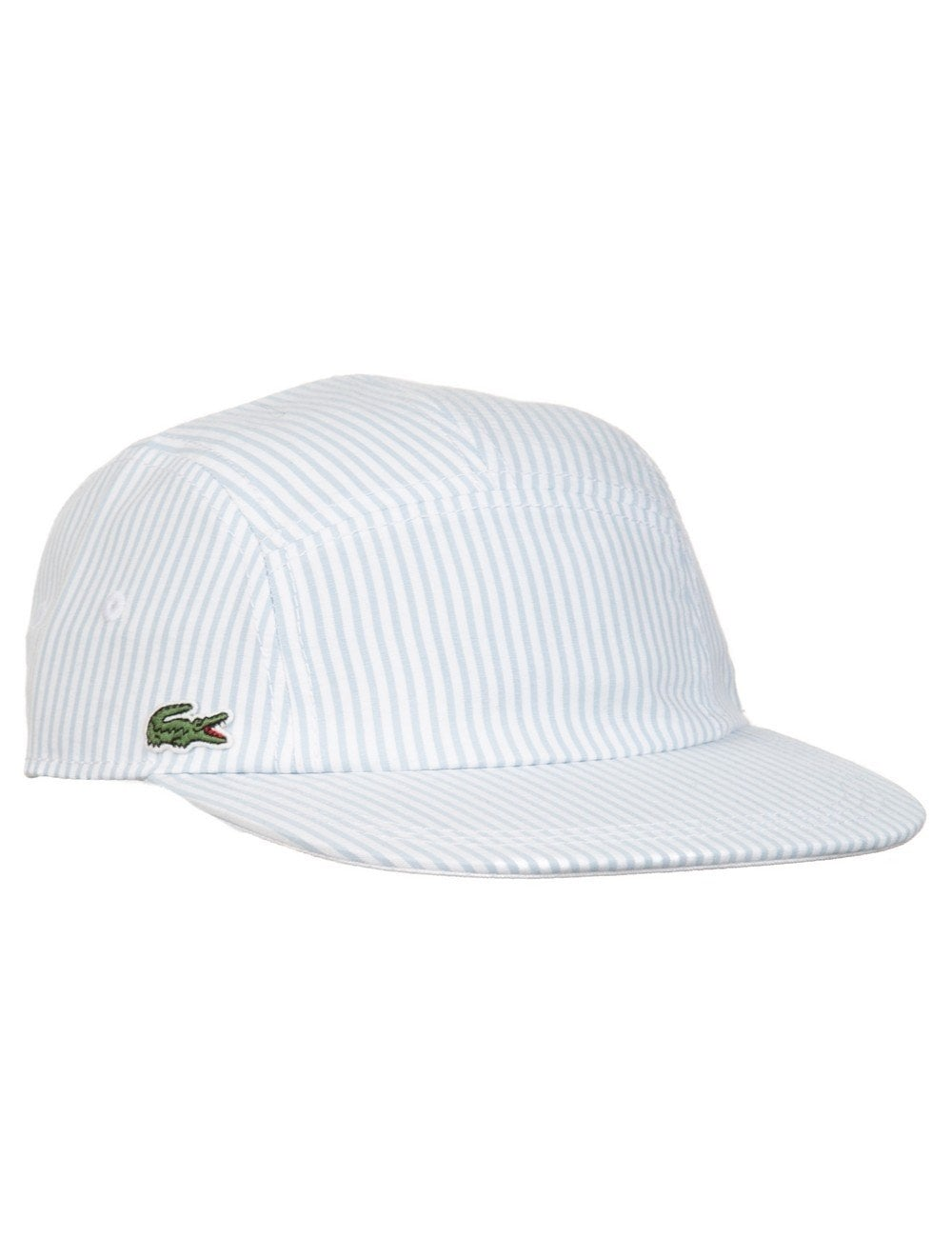 Lacoste Live 5 Panel Hat - Pin White - Accessories from Fat Buddha ... dc4a429e705