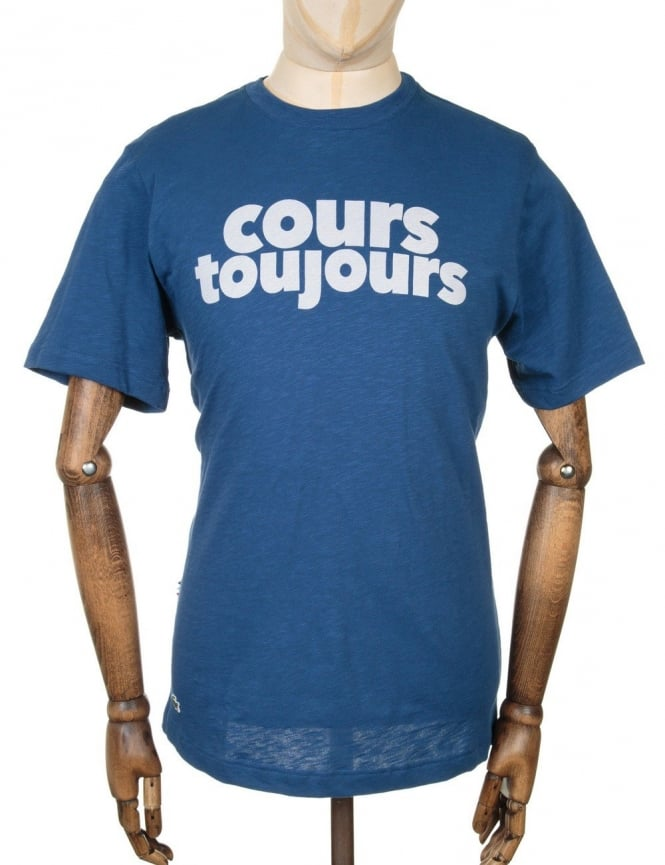 Lacoste Live Cours Toujours Logo T-shirt - Inkwell