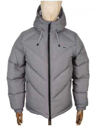 Lacoste Live Down Padded Jacket - Stone Grey