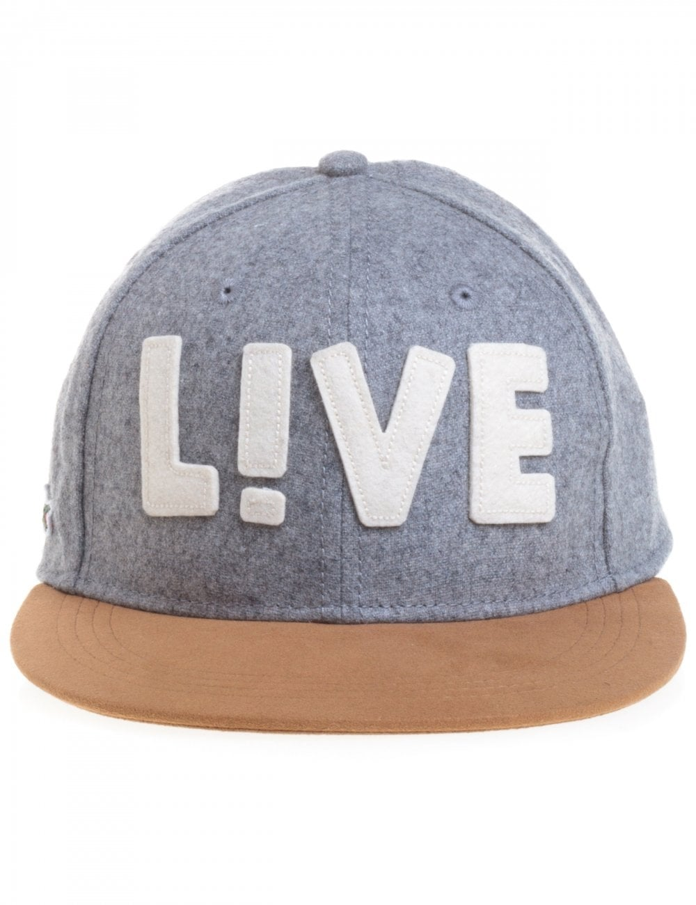 3b2e3c3e06a Lacoste Live Flannel Cap - Silver - Accessories from Fat Buddha Store UK