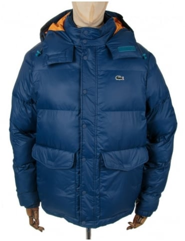 Lacoste Live Hooded Down Jacket - Jais (Blue)