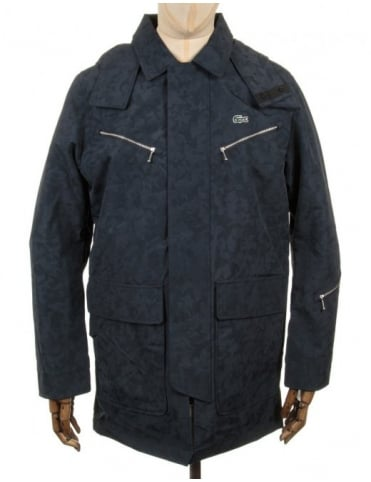 Hooded Parka Jacket - Navy Blue