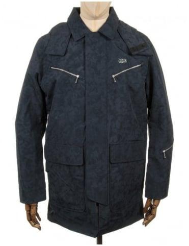Lacoste Live Hooded Parka Jacket - Navy Blue