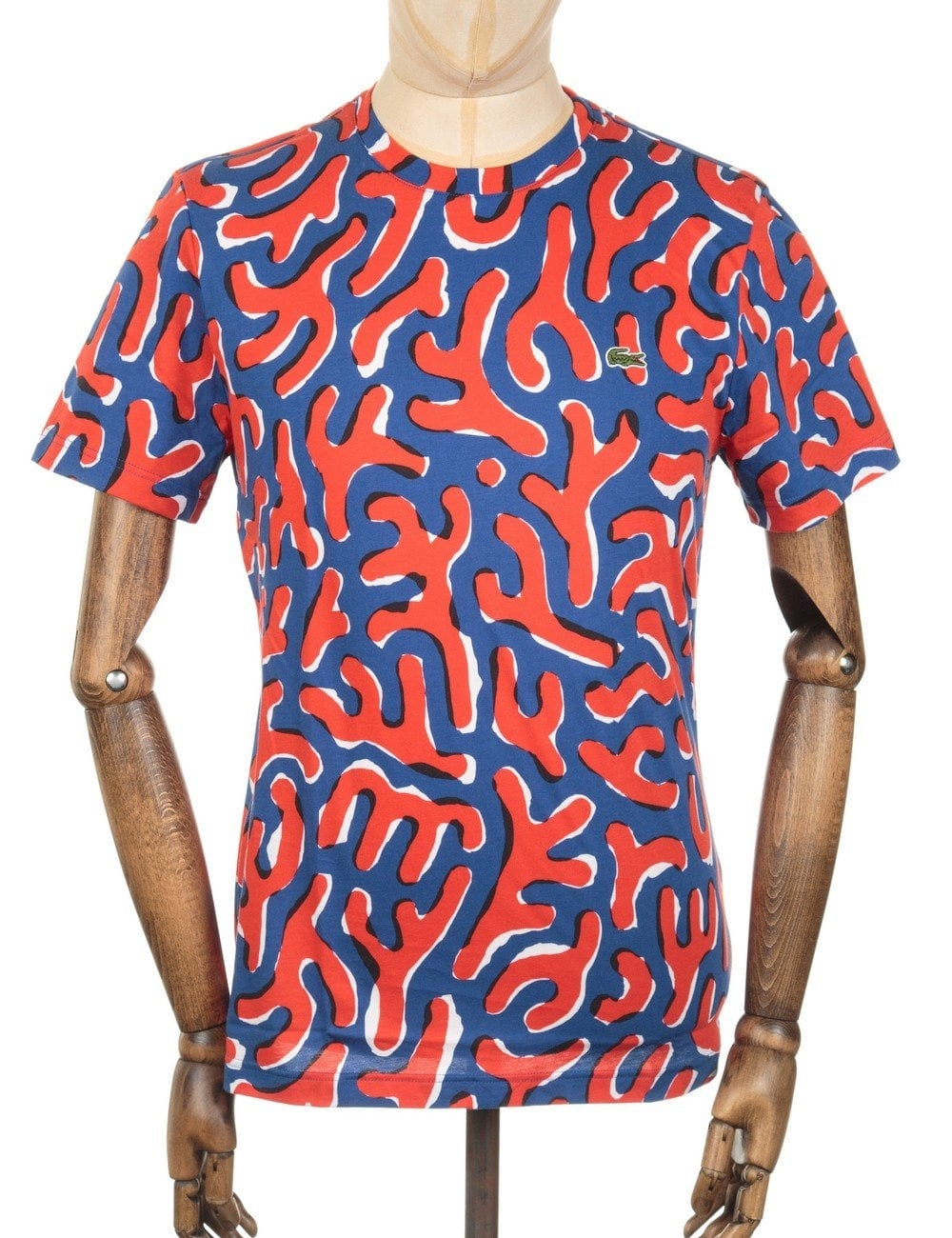 35764353a1980d Lacoste Live Jersey Printed T-shirt - Blue Red - Clothing from Fat ...