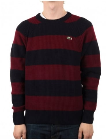 Lacoste Live Jewel Neck Sweater - Rabane/Noir