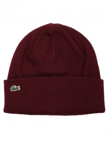 Lacoste Live Knitted Cap - Grape Vine