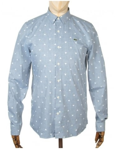 Lacoste Live L/S Skinny Fit Shirt - Scarab Chine/Stone Chine