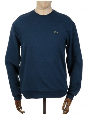 Lacoste Live Plain Croc Marl Sweatshirt - Night Chine