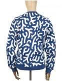 Lacoste Live Printed Sweatshirt - Blue/White