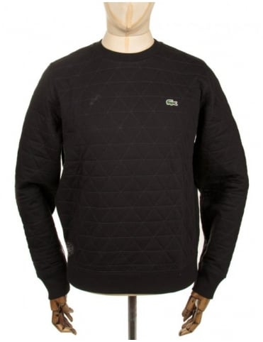 Quilted Sweatshirt - Black