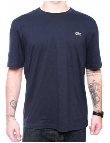Lacoste Live S/S Croc Logo T-shirt - Navy Blue