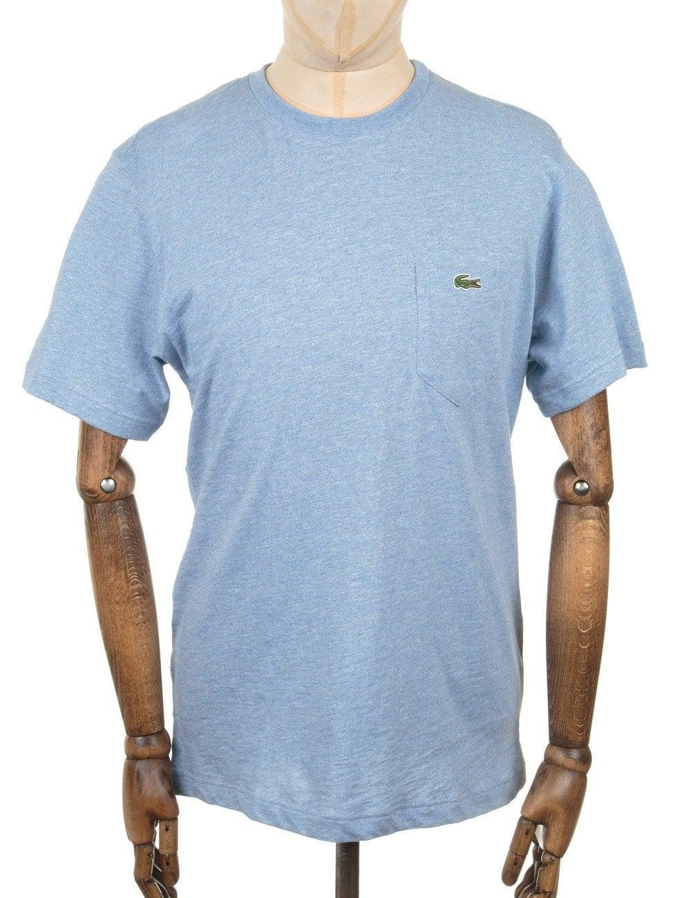 e61ac900c002e0 Lacoste Live S S Pocket Croc Logo T-shirt - Light Blue - Clothing ...
