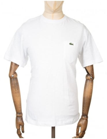 Lacoste Live S/S Pocket Croc Logo T-shirt - White