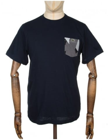 S/S Pocket T-shirt - Navy/Multi