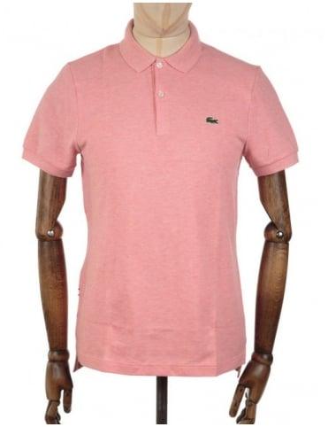 Lacoste Live S/S Rib Collar Polo Shirt - Corals Chine
