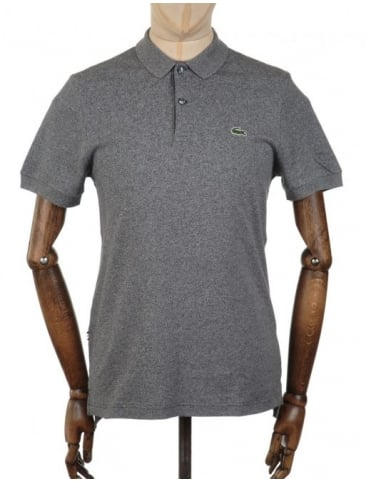 S/S Rib Collar Polo Shirt - Sludge Jaspe