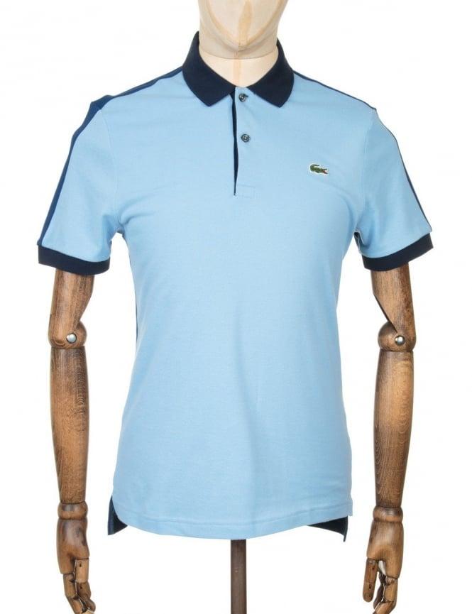 Lacoste Live S/S Rib Polo Shirt - Catamaran/Inkwell
