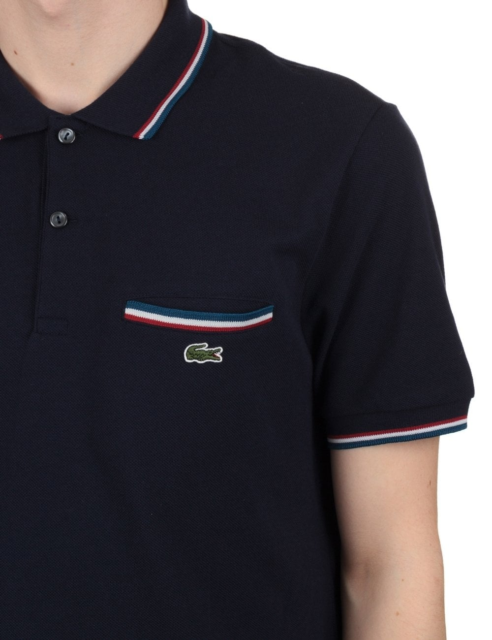 Marine Polo Navy Short Sleeve Ribbed EHe2IWYD9