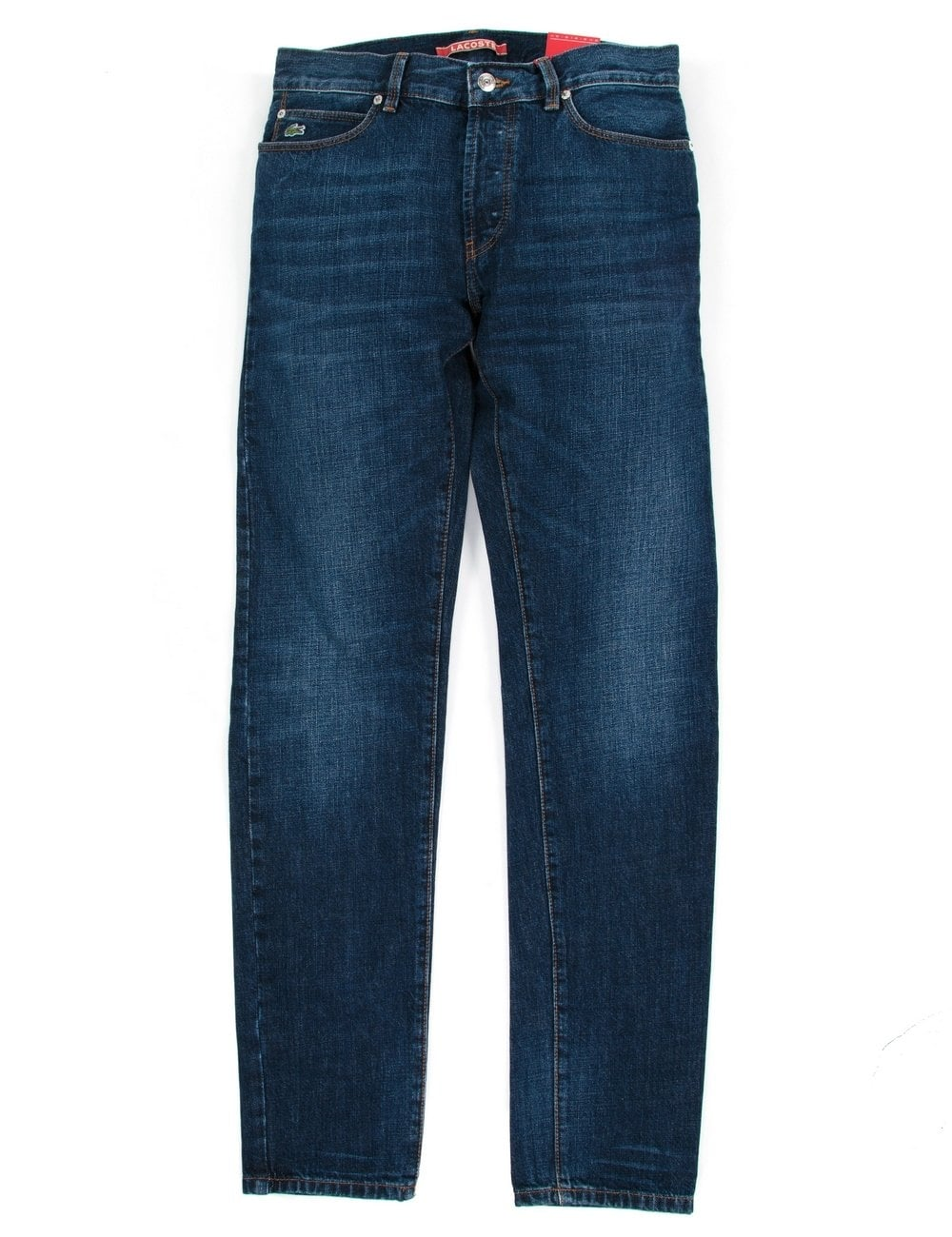 f8ad62316130 Lacoste Live Slim Fit Jeans - Medium Blue Brushed - Clothing from ...