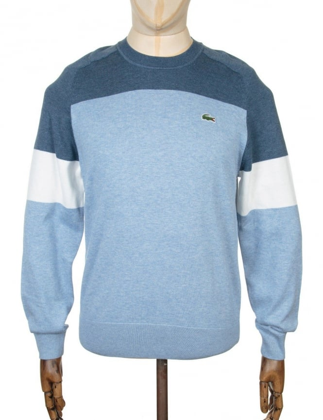 Lacoste Live Tricolor Knitwear - Inkell Chine/Flour-Drop