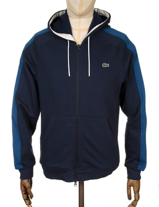 Lacoste Live Two-Tone Hooded Sweat - Navy Blue/Inkwell