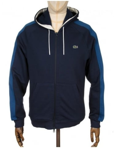Two-Tone Hooded Sweat - Navy Blue/Inkwell