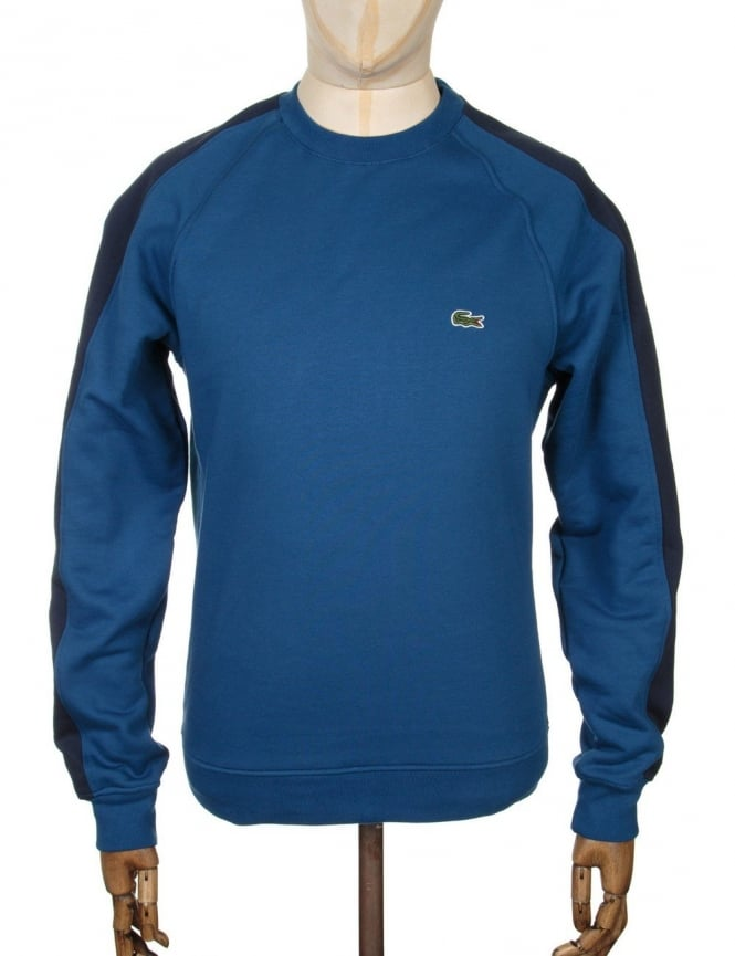 Lacoste Live Two-Tone Sweatshirt - Navy Blue/Inkwell