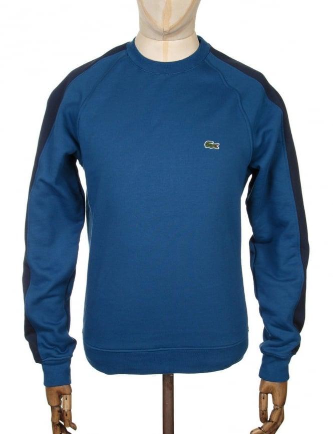 Lacoste Live Two-Tone Sweatshirt - Navy Blue/Inkwell