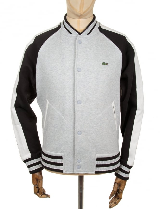 Lacoste Live Varsity Style Cardigan - Grey/Black