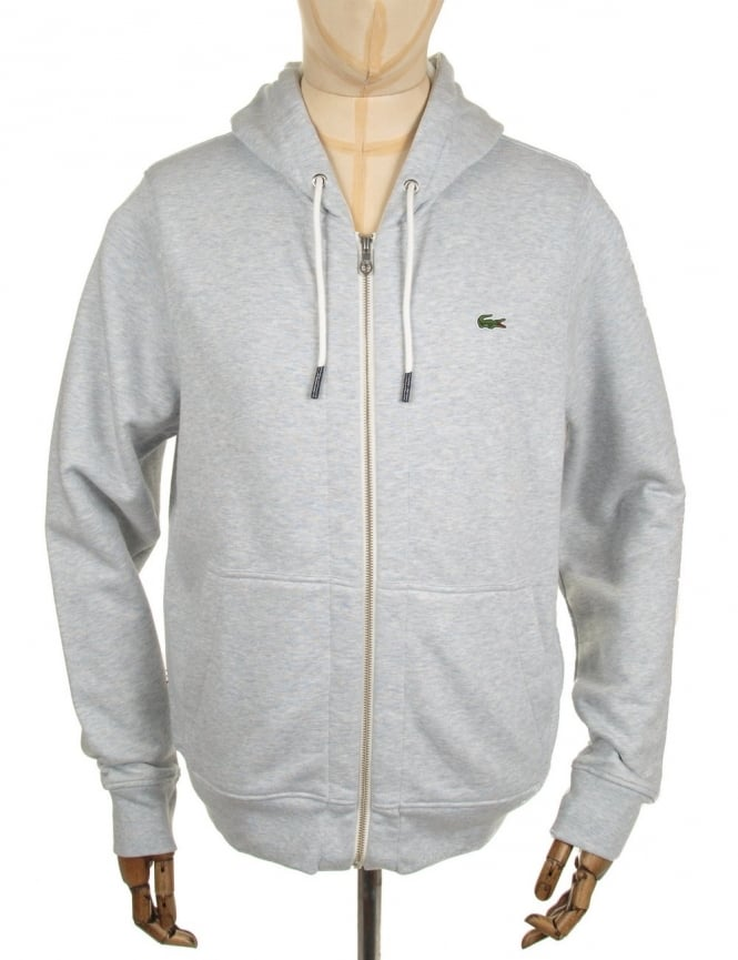 Lacoste Live Zip Hooded Sweat - Heather Grey